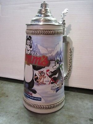 Hamm's Beer Lidded Stein / Mug 1994 Limited Holiday Edition By Pabst Brewing Co.