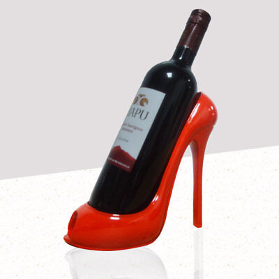High Heel Shoe Wine Bottle Holder Stylish Rack Gift Basket Accessories for Home