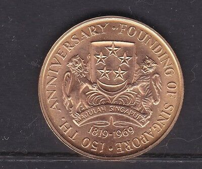 CB201) Singapore 1969 Federation $150 22ctGold Coin, weighs approx. 25 grams