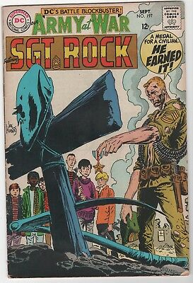 Our Army At War #197 In Very Good/Fine 5.0 Condition (Sept, 1968, DC)