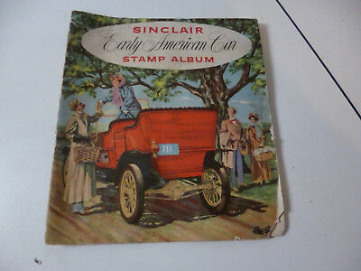 Sinclair Early American Car Stamp Album 1950s w Some Stamps