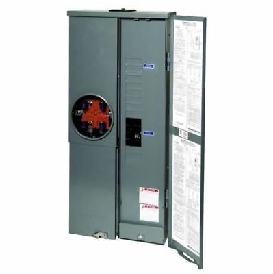 200 AMP LOAD Center, Single-Phase 8-Space Outdoor Ring-Type, 4-Jaw Meter  Socket