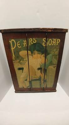 Vintage Pears Soap Advertising Sign Victorian Girl Rustic Wooden Pallet Decor