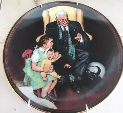 """Knowles Fine China Norman Rockwell Collector Plates """"Tender Loving Care"""""""