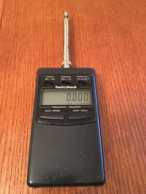 Radio Shack Hand Held LCD RF Frequency Counter Model 22-306 Portable