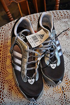 NWT Adidas Cosmos 2 MD Track and Field Shoes Black,Silver and Purple US Size 14