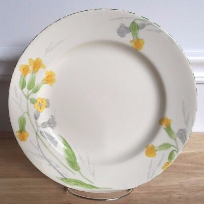 "3 CROWN DEVON FIELDINGS MEADOWSWEET 9.75"" Dinner Plates - Yellow Flowers - RARE"
