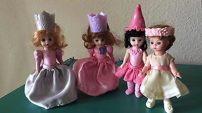 Madame Alexander Dolls Princess Girls McDonald's Toy Lot x4 Pink