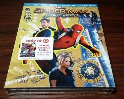 Spider-Man Homecoming Exclusive Digibook(Blu-ray/DVD/Digital HD)w/Comic Book-NEW