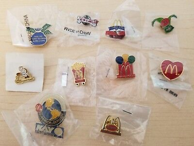 McDonald's Pins Late 1990s: Disney Monopoly Pepper Tyson East Balt French Fries