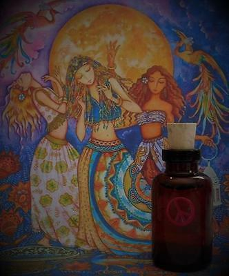 HIPPIE Witch Ritual Oil Anointing Oil Potion Free Spirit ~Wicca Witchcraft Pagan