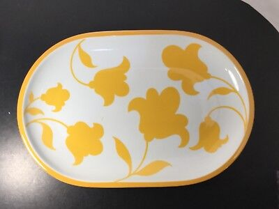 "Block - Hearthstone - Vista Alegre - Ginger - Oval Platter -14"" - Yellow Flowers"