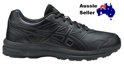 NEW! Asics Adult Womens Gel Mission Work walk Comfort All Day  Black Q852Y 9016