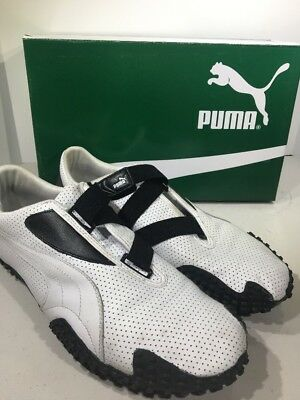 Puma Mostro Perforated Leather Black/White Mens Size 12 Sneaker Shoes X7-2057