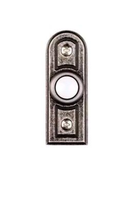 Hampton Bay Wired Lighted Door Bell Push Button Antique Pewter 1001371138  *NEW*