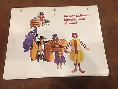 1970s McDonalds McDonaldland Specification Manual