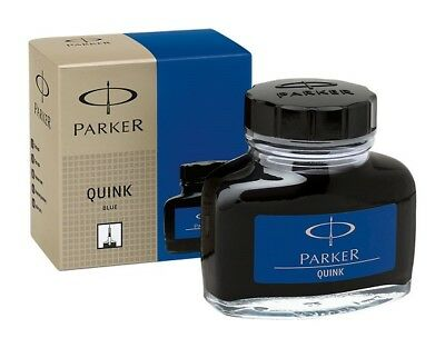 Parker Quink Fountain Pen Blue Ink Bottle (Original) 30 ml - Free Shipping