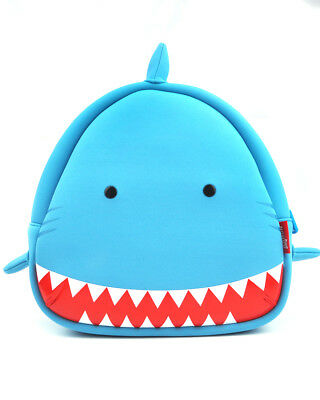 Kids Toddler Backpack Cute Kindergarten Children Blue Shark Cartoon Schoolbags