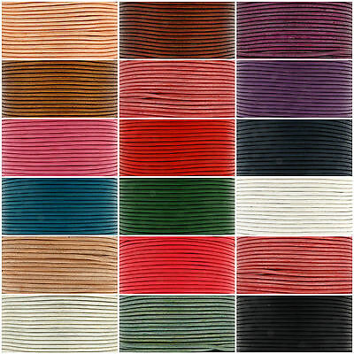 Lots 5M Real Leather Rope String Cord Necklace Jewelry Making Craft 1.5/2.0MM