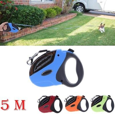 High Quality Extendable Retractable 5m Pet Dog Training Lead Leash Hold Max 50KG