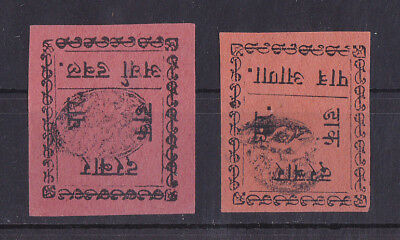 DHAR 1897-1900 Unused No gum Set of 2 Stamps Unchecked