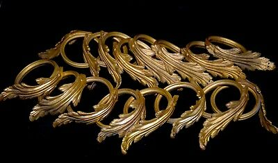 Set of 16 Antique French Heavy Solid Ormolu Bronze/ Brass Curtain Rings 2 1/2""
