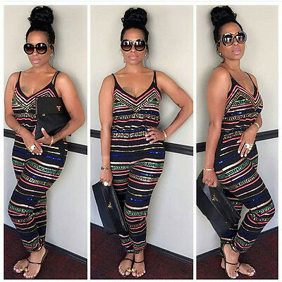 US Seller Women Party Jumpsuit Backless Playsuit Bodycon Romper Trouser Clubwear