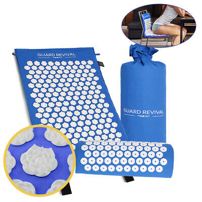 Acupressure Massage Mat with Pillow for Pain Relif Body Relaxation Chair Cushion
