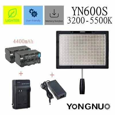 Yongnuo YN600S Pro LED Video Light 3200-5500K for Camera Camcorder Lamp Photo
