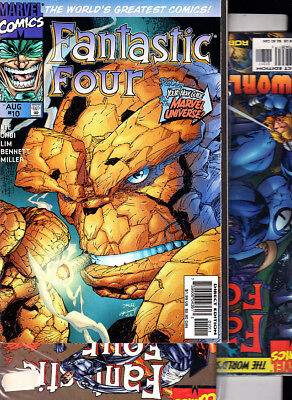 FANTASTIC FOUR ( LOTE 3 NUMEROS ) Nºs 10. 12. 13 JIM LEE,ETC. MARVEL EN INGLES.