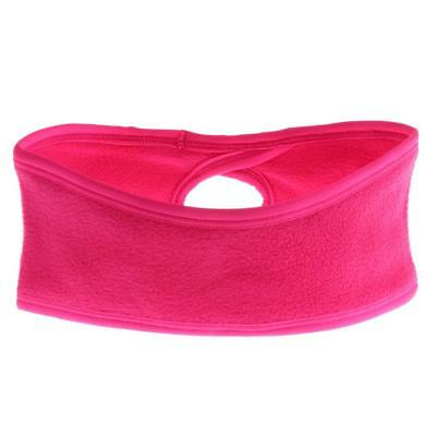 Womens Fleece Ponytail Headband Sweatband Ski Ear Warmer Sports Running Pink