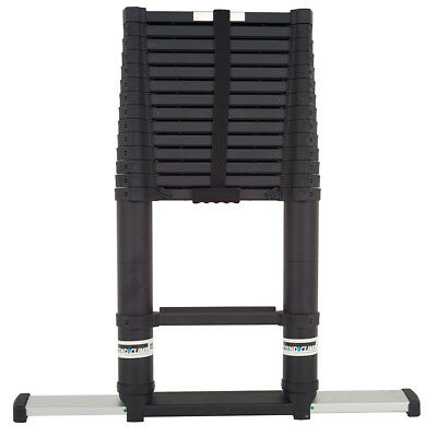 SuperPro Telescopic Ladder Xtend + Climb Aerospace Grade Aluminium - Black 4.4M