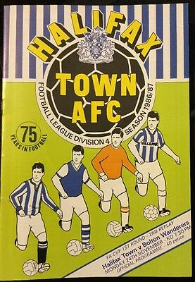Halifax Town v Bolton Wanderers (FA Cup first round second replay) 1986-87