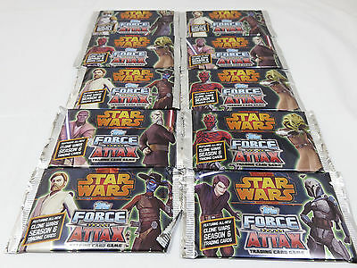 Star Wars Topps Force Attacx Trading Cards Game 10 Packs 80 Cards - From 2010