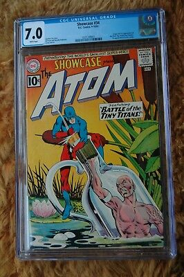 SHOWCASE #34 CGC 7.0 First appearance Atom (Ray Palmer) 1st App Jean Loring