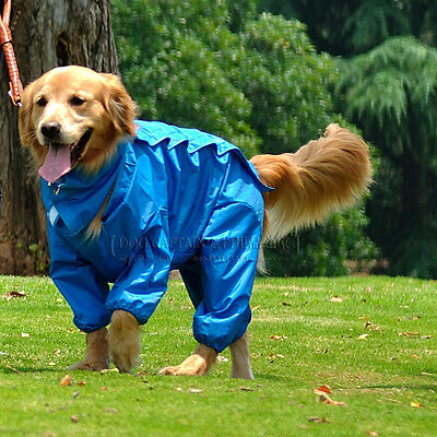 Extra Large Dog Raincoat Outdoor Hoodie Jacket Pet Waterproof Safety Rain Coat
