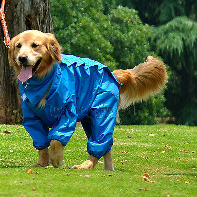 Large Dog raincoat waterproof outdoor hoodie golden retriever Huskey Samoyed