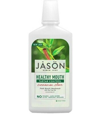 Jason Mouthwash 473ml Cinnamon Tartar Control Natural Fresh Breath Healthy Teeth