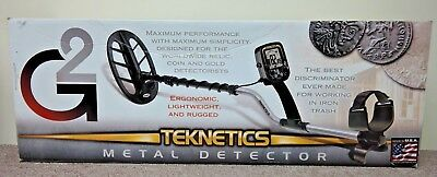 """Teknetics G2 Black Metal Detector 11"""" DD Coil 19.2 kHz Frequency 2.8 Pounds NEW"""