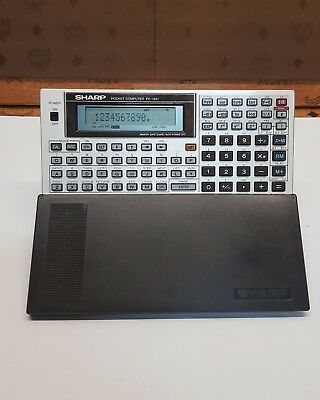 SHARP POCKET COMPUTER PC 1401  BASIC CALCULATOR funktionstüchtig