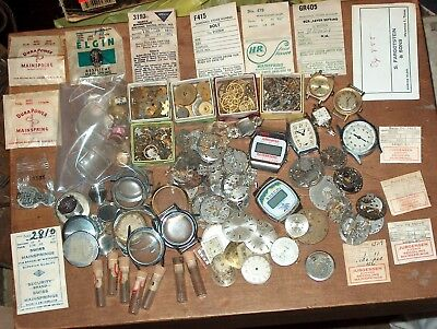 huge lot of watches&parts,vintage,nos,used,parts,repair,steampunk,crafts,lot 5