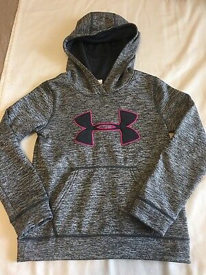 girls under armour hoodie small Gray And Pink Beautiful Ysm