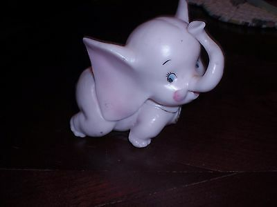 Vintage Porcelain Pink Baby Elephant by Norcrest A14-4 with tags
