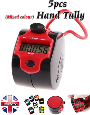 (5pcs) 5 Digit Digital  LCD Electronic Hand  Tally Counter For Tasbeeh Golf Dock