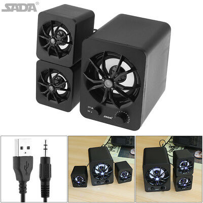 USB Mini Multimedia Speaker Box 2.1 Computer Subwoofer for PC Desktop Laptop MP3