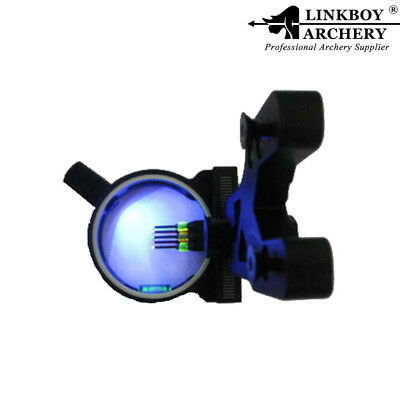 "Linkboy Archery Bow Sight 5 Pin Optic .029"" w/ led Voilet Light for Compound Bow"