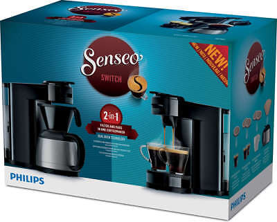 PHILIPS Senseo Switch HD7892/60 Pad- und Filterkaffeemaschine 2 in 1 schwarz