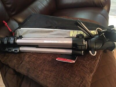 Manfrotto 390 MK394-H Tripod Great Condition W/ Carry On Bag