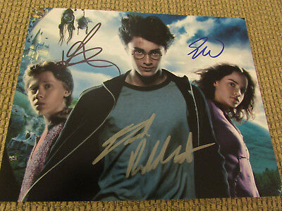 Daniel Radcliffe Rupert Grint Emma Watson sign autograph Photo Harry Potter 8x10