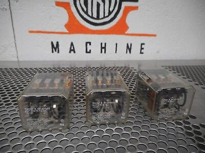 Potter & Brumfield KUP-17D19-12 Relays 12VDC 10A 250VAC Used Warranty (Lot of 3)